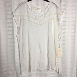 Two by Vince Camuto Women's XL Ultra White Linen